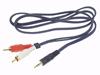 Cable Audio - Jack Estéreo M 3.5mm 2xRCA M 5m