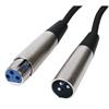 Cable Micrófono Profesional XLR 6 mts - Conexión XLR  macho a XLR hembra de 6 mts - cable-430/6 - Ref: cable-4306