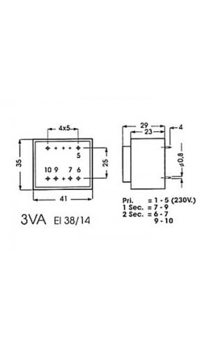 Transformador 15V  1,33A