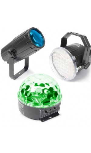 Set Iluminacion BeamZ 1. Moon, strobo y Star