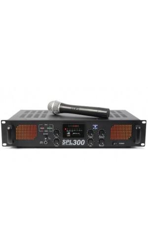 Amplificador SkyTec SPL 300VHFMP3 - Amplificador SkyTec SPL 300VHFMP3 con LEDs Ámbar + EQ Negro.Ref: 175.560