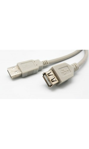 Cable USB 2.0 TIPO A macho - A hembra, 10mts