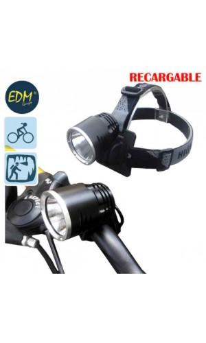 Linterna recargable de doble función cabeza y bicicleta - Linterna recargable de doble función cabeza y bicicleta con superled de 10W.Ref: 36110