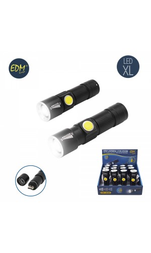 Mini Linterna con zoom 120 lumens Recargable USB