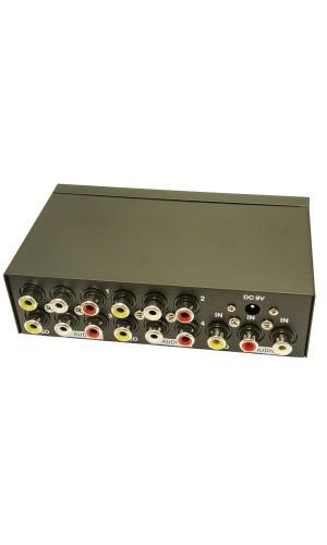 Distribuidor AV de 4 Salidas - Distribuidor Audio Video con 4 salidas.Ref: 4072