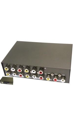 Distribuidor AV 4 Entradas a 1 Salida - Distribuidor Audio Video con 4 entradas  y 1 Salida.Ref: 4073
