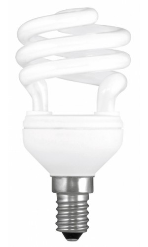 Lámpara Bjo Consumo 11W 2700K E14 - Lámpara Bajo Consumo en espiral  11W 2700K E11.Ref: 492150504