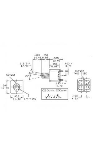 Pulsador de Palanca con Retorno - Pulsador de palanca ON-OFF-ON con retorno y doble circuito.Ref: 8012a