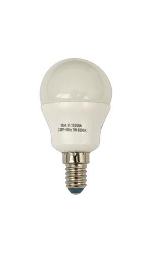 Bombilla LED. G45. E-14.Dia 230 VAC.7W - Bombilla LED. G45. E-14.7W-Cálida 230 VAC.Modelo 81.153/dia.Ref: 81.153dia