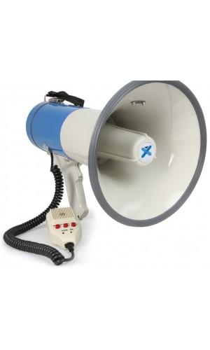 Megáfono de 50W. con mensajes grabados USB - SD - Bluetooth - Megáfono Vexus mod.MEG055 de 50W con entradas de USB-SD ,grabación y Bluetooth  .Ref: 952.016