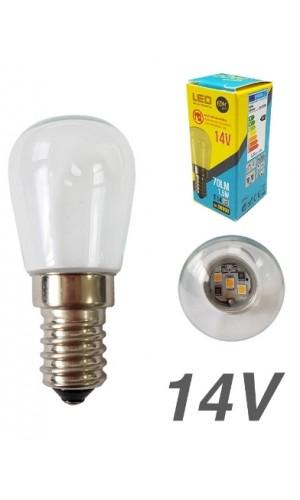 Bombilla LED 14V 1,5W clara E14 6.400K EDM
