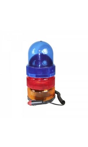 Luz giratoria con base magnetica 12V - 3 colores