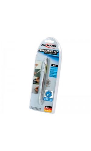 Puntero Laser Rojo + bolígrafo + linterna) - Puntero laser a led.3 en 1.Ref: ans1183