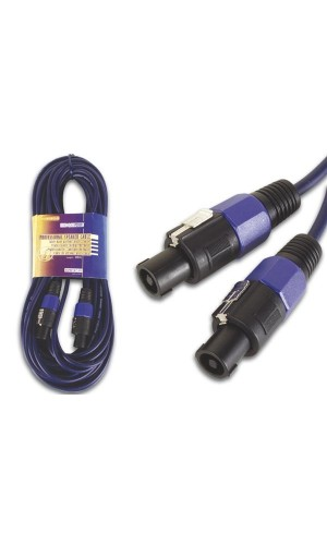 Conexión cable  speakon altavoz  20 mts.azul - Conexión speakon altavoz conector altavoz macho a macho de 20 metros de 2 polos.Ref. avw147-20