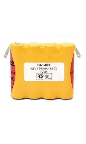 Pack Baterias Ni-CD 4,8V - 940 mAh - Pack Baterias Ni-CD 4,8V - 940 mAh.Ref: bat077
