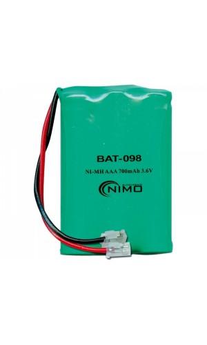 Pack de baterías 3,6V/700mAh NI-MH - Pack de baterías 3,6V/700mAh NI-MH.Ref: bat098