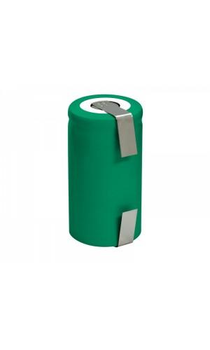 Batería recargable SC Ni-Mh - 2,4A - Batería recargable SC NI-MH 1,2V - 2,4A con terminales para soldar.Ref: bat1004