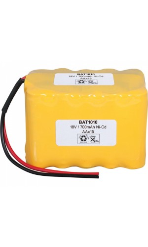 Pack de baterías tipo Flasco 18V/1000mAh Ni-Cd - Pack de baterías tipo Flasco 18V/1000mAh Ni-Cd.Ref: bat1010