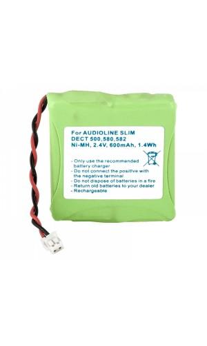 Pack de baterías 2,4V/600mAh NI-MH