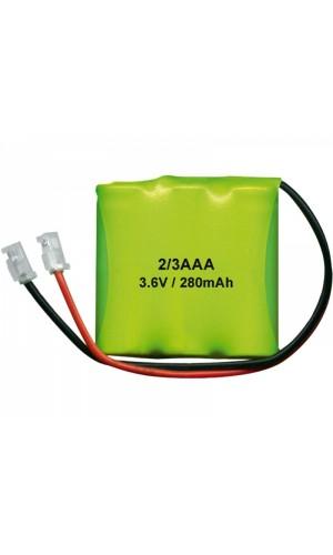 Pack de baterías Teléfono 3,6V/280mAh NI-MH - Pack de baterías para Teléfono 3,6V/280mAh NI-MH.Ref: bat163