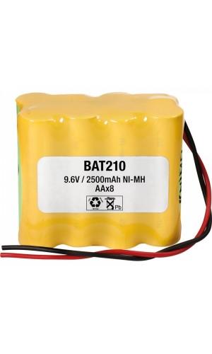 Pack de baterías 9,6V/2500mAh NI-MH - Pack de baterías 9,6V/2500mAh NI-MH.Ref: : bat210