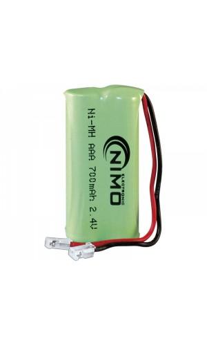 Pack de baterías 2,4V/700mAh NI-MH - Pack de baterías 2,4V/700mAh NI-MH.Ref: bat229