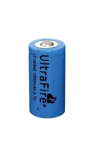 Batería recargable Li-Ion LC16340, SIN cto. de control - Batería recargable Li-Ion LC16340, SIN cto. de control.(Sin circuito de protección de carga y descarga).Ref: bat547