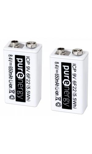 Juego 2 Baterías Recargables de Li-Ion 9V - Juego 2 Baterías Recargables de Li-Ion 9V con cto. de control.Ref: bat559