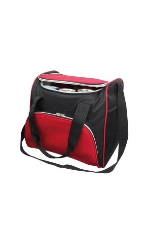 Bolsa Nevera con correa - Bolsa nevera con correa roja y negra.Ref: bb70401