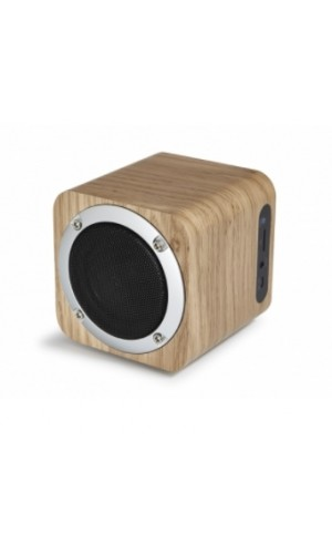 Altavoz Fonestar Bluetooth con radio FM - Altavoz bluetooth con radio FM acabado veta madera Fonestar.Ref: bluenature-53