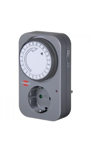 Programador horario mecánico - Temporizador analógico Brennenstuhl de 24 horas para interior 3500W.Ref: bn-1506450