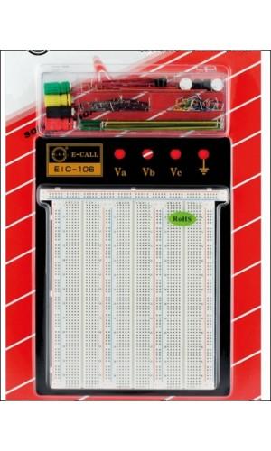 Placa Board 2390 contactos - Bandeja de pruebas de 2390 contactos + mesa + puentes.Ref: bp006