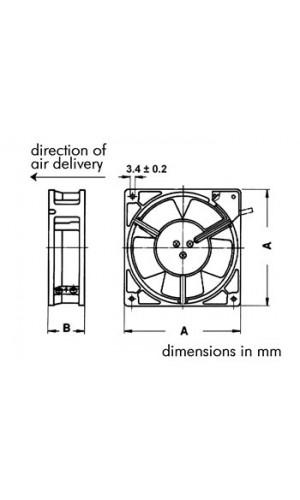 Ventilador 12VDC  40 x 40 x 10mm  - Ventilador Sunon de 12VDC de cojinete liso de  40 x 40 x 10mm.Ref: bss12d1040
