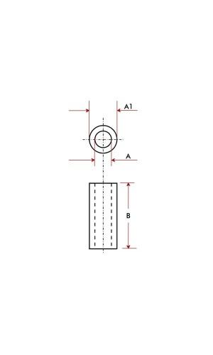 Separador de Plástico 5 mm M4