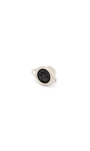 Base DIN 5 puntas 180º - Base hembra DIN de 5 contactos 180º.Ref: ca086