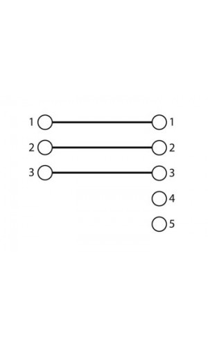 Adaptador XLR de 3 a 5 Contactos - Adaptador XLR hembra 3 contactos a XLR hembra  5 contactos.Ref: caa59