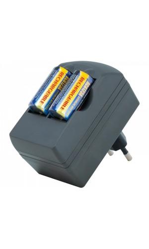Cargador + 2 baterias 3V.CR123A recargables - Cargador + 2 BAT826 Canon CR123. Ref: car089