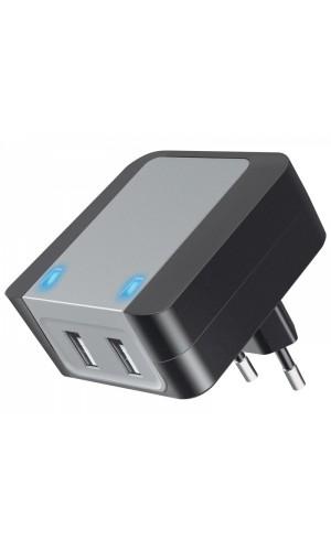 Cargador Alimentador Quick Charge 2.0 110-240Vca / 2xUSB - Cargador Alimentador Quick Charge 2.0 110-240Vca / 2xUSB .Ref: car250