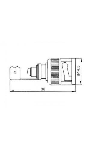 Conector BNC para Soldar - Conector BNC macho para cable de 7 mm (RG59)de 7 mm.Ref: cbnc33