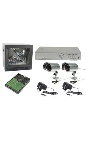 Juego promocional CCTV - Juego promocional CCTV : DVR + Monitor + 2 cámaras + disco duro + alimentadores.Modelo: cctvprom2