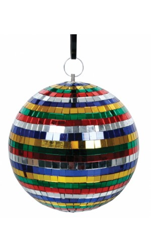 Bola de espejos colores 20 cm - Bola de espejos multicolores de 20 cm.Ref: dl-clball20