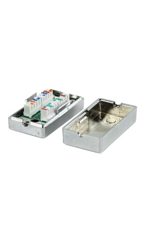 Caja Empalmadora para Cables CAT5 - Caja acopladora para cables CAT5.Ref: cmp-connbox10