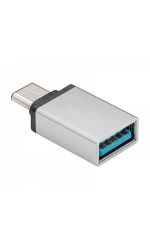 Adaptador USB tipo A 3.0 a USB-C H-M - Adaptador USB tipo A 3.0 a USB-C H-M. Ref: con746