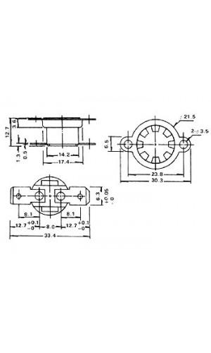 Interruptor Térmico - NA - 160º - Interruptor Térmico NA de 160 º.Ref: cpa160