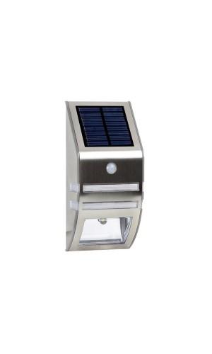 Aplique solar mural para exteriores con PIR