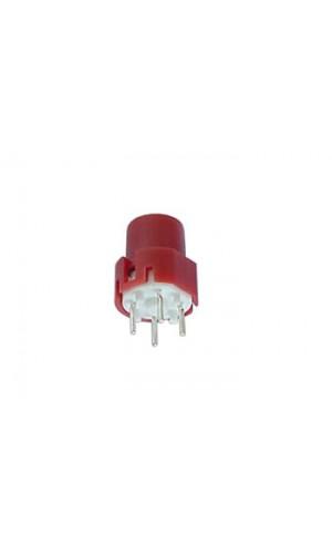 Pulsador redondo rojo - Pulsador de contacto redondo 9.0 mm Rojo.Ref: d9
