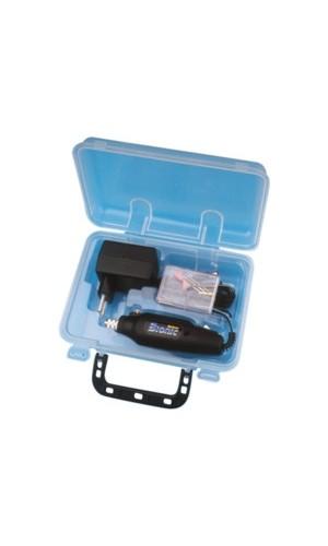 Maletin con taladradora - Minitaladradora con maletin y adaptador de corriente.Ref: 04.219