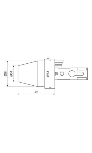 Interruptor fotoelectrico - Interruptor fotoeléctrico dia noche.Ref: 11.592