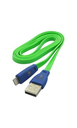 Conexión Lightning (8P, macho) para equipos Appel - Conexión Lightning (8P, macho) a USB colores varios de 1 mts.Ref: 38.435