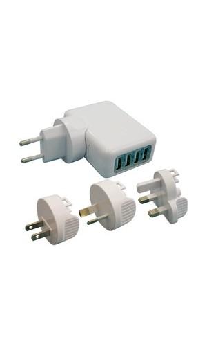 Alimentador de viaje con 4 salidas USB - Alimentador de viaje con 4 salidas USB macho tipo A.Modelo: 38.514